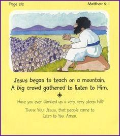 Jesus the Teacher (Sermon on the Mount) - Kids Korner - BibleWise