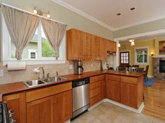 photos of kitchens with butcher block countertops - Google Search