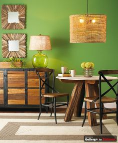 want this green in my living room Wood Table, Table And Chairs, Dining Table, Table Legs, Dining Area, My Living Room, Home And Living, Cottage Dining Rooms, Green Rooms