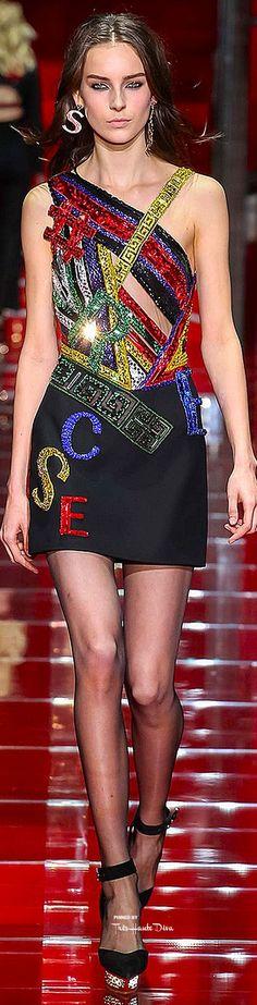 #MFW Versace Fall 2015 RTW  ♔THD♔