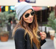 toucas femininas para o inverno modelo comum