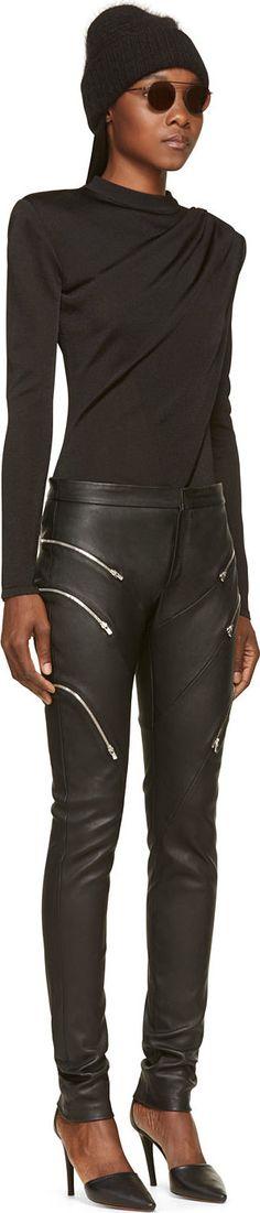 https://www.ssense.com/en-us/women/product/jay-ahr/black-grained-leather-zipped-trousers/110928