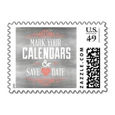 Chalkboard Save the Date Wedding Postage