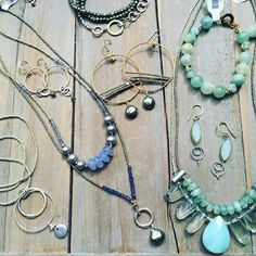 Spring might not be here but you can feel like it with new jewelry from Sara Silvio Jewelry at Memorial Art Gallery, Turquoise Necklace, Beaded Necklace, Unique Gifts, Store, Spring, Instagram Posts, Jewelry, Fashion