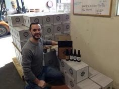Wayne aka Sales Manager showing the Hargreaves Hill craft beer range