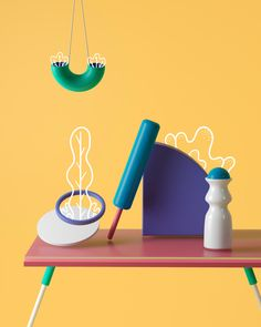 In this project we tried to find a way to integrate hand drawed illustration with 3D graphics, discovering a new and fun graphic world for us.For that we created several abstract plants, vases and geometric objects. Simple, unconventional and colorful. …