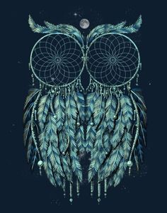 owl dreamcatcher! i wonder if i could make this..