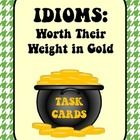 Free! Idioms task cards provide practice finding idioms and determining the meaning of the idioms. ..