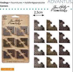 2.5cm, smykker af Advantus Tim Holtz. For scrapbooking, collage og kortdesign.