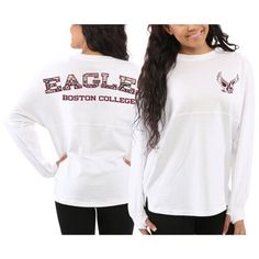 Boston College Eagles Women's Aztec Sweeper Long Sleeve Top – White