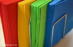 Rainbow+party+ideas:+colourful+napkins