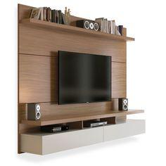 Painel para TV até 60 polegadas, Natural com Off White 2,20m, Ferraz