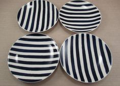 Lenox China Kate Spade CHARLOTTE STREET Appetizer / Tid Bit Plates - Set of Four #Lenox