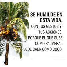 Se humilde en esta vida