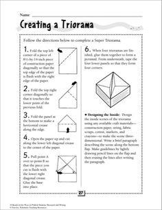 triorama printable - Google Search