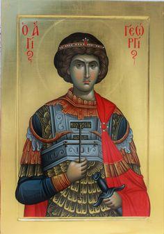 Byzantine Icons, Byzantine Art, Orthodox Christianity, Orthodox Icons, Saint George, Children's Literature, Sacred Art, Religious Art, Ikon