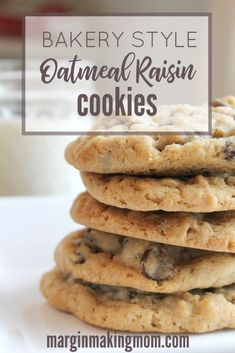 These bakery style oatmeal raisin cookies are perfectly soft and chewy! I love the buttery sweetness matched with the plump raisins. They are absolutely perfect! Learn how to make them by clicking through! Baking Recipes, Cookie Recipes, Dessert Recipes, Cookie Ideas, Drop Cookies, Cupcake Cookies, Sugar Cookies, Cupcakes, Soft Oatmeal Raisin Cookies