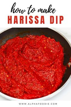 How to make harissa sauce, a smoky, spicy, creamy chili sauce, and the ultimate condiment for heat-lovers. Even better, this harissa paste can be made with fresh or dried chiles, adapted to preferred spice levels, and stored in the fridge or freezer for weeks of deliciousness!