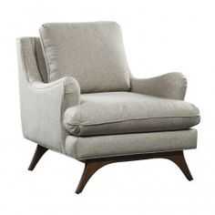 LEWIS GREY FABRIC CHAIR