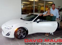 Lisa is ecstatic about her new whip, a sleek 2013 #Scion! Welcome to the #DavidMaus #family! #WhateverItTakes
