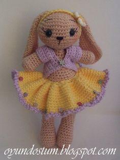 Lovely amigurumi bunnyrabbit pattern by oyundostum on Etsy
