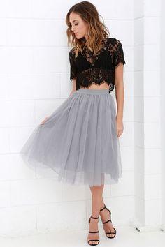 Urban Fairy Tale Grey Tulle Skirt at Lulus.com!