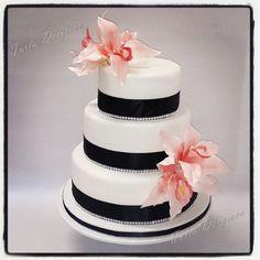 cymbidium orchid wedding cake