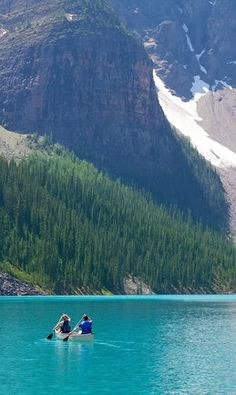Kayaking in Canada's Banff National Park is a must.