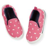 A crab print makes these slip-on sneakers so cute.  Comfy cotton and cute prints are easy to wear and look great for warmer weather.