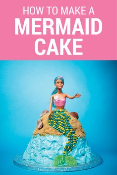 Ready to go under the sea? This cake is perfect for a mermaid-themed party—and way easier to make than it looks!