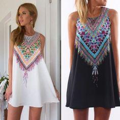 Sexy-Women-Lady-Sleeveless-Summer-Boho-Beach-Dress-Party-Evening-Cocktail-dress