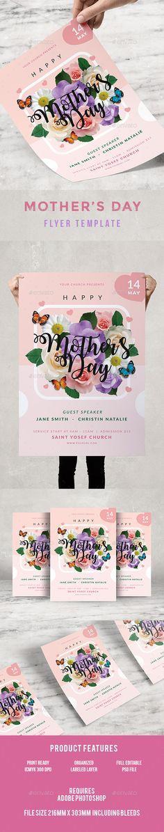 Magical Sounds Flyer Volantini, Photoshop e Modello di volantino - mothers day flyer
