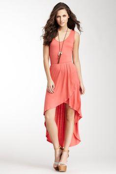 Hi-Lo Wrap Maxi Dress