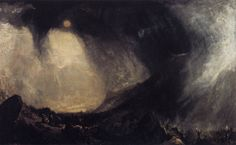 Joseph Mallord William Turner Snowstorm: Hannibal and His Army Crossing the Alps, 1812