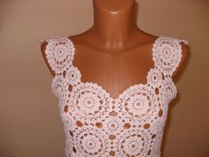 white crochet dress by Lalerosso on Etsy