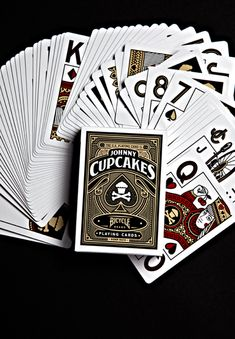 Playing Cards Official Bicycle playing cards with a Johnny Cupcakes twist