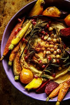 Vegan Winter Harvest Hummus Bowl