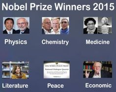 Nobel Prize Winners 2015 – All You Need to Know