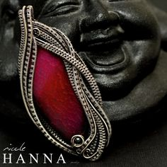 Nicole Hanna Jewelry   Hot Pink Crackle Agate Pendant, Wire Wrapped Necklace   Online Store Powered by Storenvy