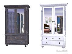 Potterybarn inspired Bedroom by Fallonbed and Sofia Surfaces Found in TSR Category 'Sims 4 Dressers'
