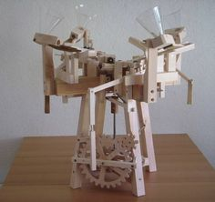 Seven amazing marble machines by Paul Grundbacher Woodworking Toys, Woodworking Projects Plans, Rolling Ball Sculpture, Marble Toys, Marble Machine, Marble Maze, Wooden Gears, Wood Clocks, Wooden Projects
