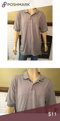 Casual Polo - David Taylor Collection Casual Polo with a minimalistic plaid design from the David Taylor Collection that will help you to look stylish with ease. Pre-owned, excellent condition. 🚭 Smoke free home. David Taylor Collection Shirts Polos