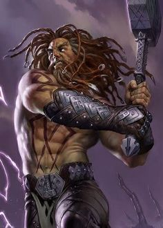In Norse mythology, Thor (from Old Norse Þórr) is a hammer-wielding god associated with thunder, lightning, storms, oak trees, strength, the protection of mankind, and also hallowing, healing and fertility.
