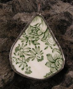 Check out this item in my Etsy shop https://www.etsy.com/listing/197433152/pendant-porcelain-shard-ooak-green
