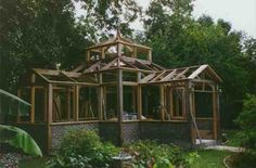 Every thought about how to house those extra items and de-clutter the garden? Building a shed is a popular solution for creating storage space outside the house. Whether you are thinking about having a go and building a shed yourself Wood Greenhouse Plans, Greenhouse Panels, Greenhouse Effect, Build A Greenhouse, Indoor Greenhouse, Greenhouse Growing, Greenhouse Ideas, Homemade Greenhouse, Greenhouse Wedding