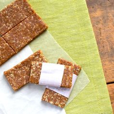 DIY Lara Bar: These healthy chewy bars taste just like a cinnamon roll and are packed with protein.