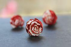 12 mini white roses painted red, via Etsy. Circus Wedding, Alice In Wonderland Wedding, Wedding Night, White Roses, Raspberry, Wedding Photography, Fruit, Mini, Red