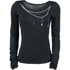 Bracelet Shirt - Girls longsleeve by Queen Of Darkness - Article Number: 272044 - from 43.99 € - EMP Merchandising ::: The Heavy Metal Mailo...