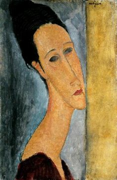 Amedeo Modigliani. Portrait of Jeanne Hebuterne, 1918