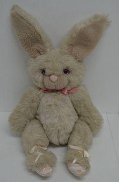 "Vintage Hallmark Graphics Bunny Rabbit Plush Ballerina Beige Pink Jointed 22""  #Hallmark http://stores.ebay.com/Lost-Loves-Toy-Chest/_i.html?image2.x=0&image2.y=0&_nkw=hallmark"